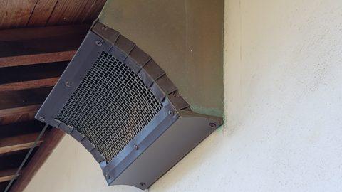 換気扇カバー網取り付け施工⚒