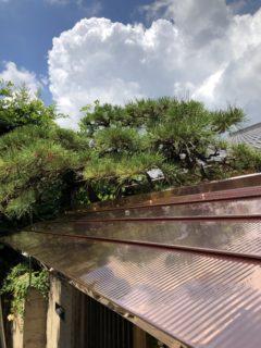 銅板門屋根
