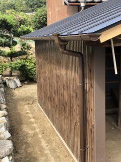 小屋屋根、壁施工⚒